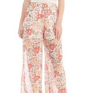 Wayf Floral Print Flair Pants